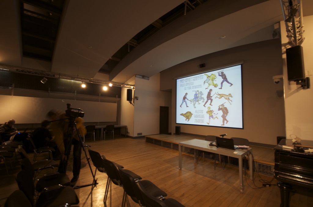 Lecture hall. NCCA. Moscow. Photograph: Alexis Zimberg. 2013.